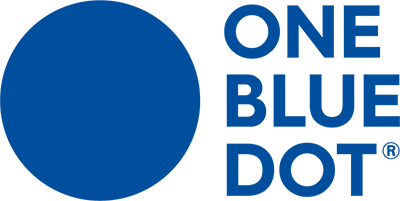 One Blue Dot Logo