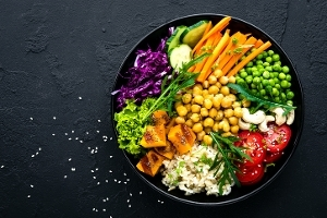 vegetarian vegan and plant based diets bowl of salad