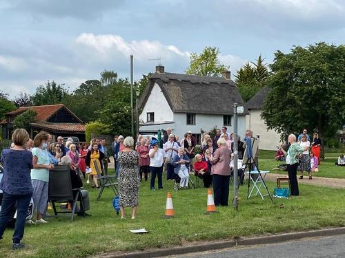 A public ceremony was held for Elsie Widdowson's blue plaque unveiling